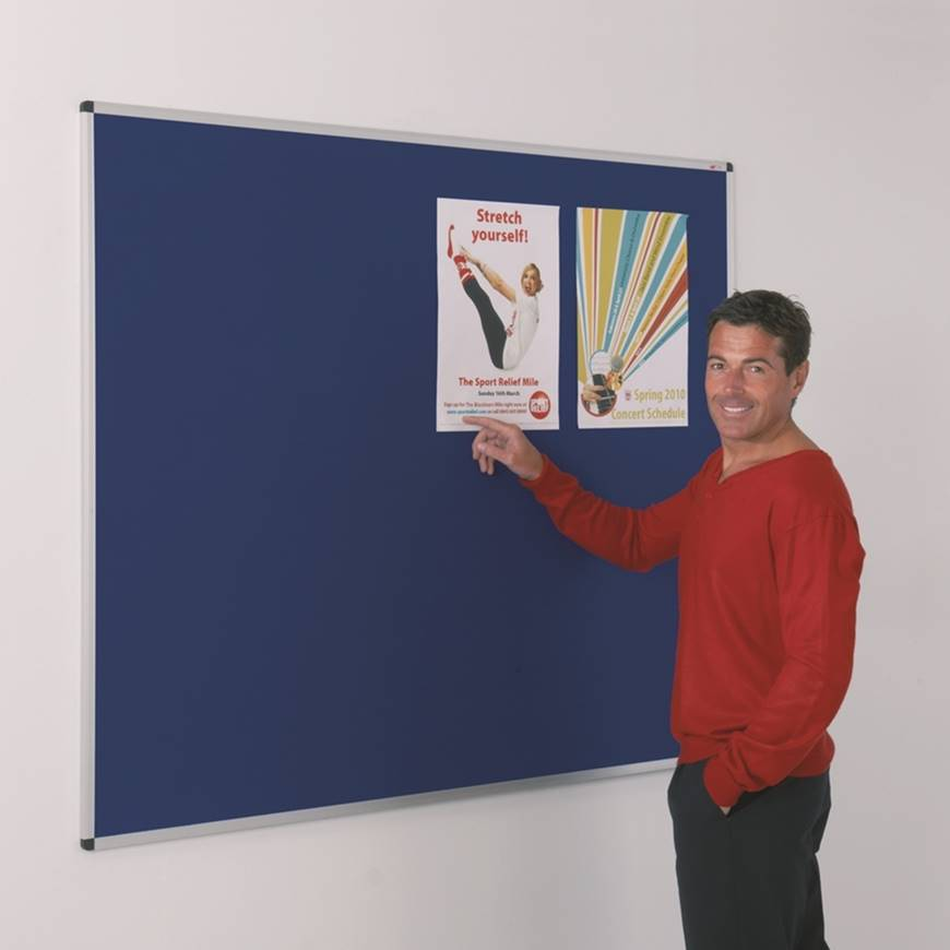 Picture of Aluminium Framed Felt Noticeboards