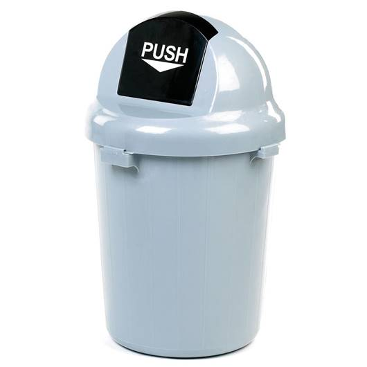 Picture of Grey Push Lid Litter Bins