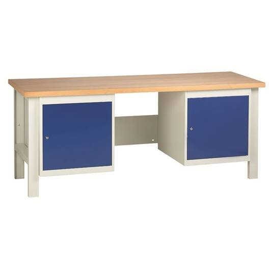 Picture of Heavy Duty Workbenches with 2 Cupboard Units