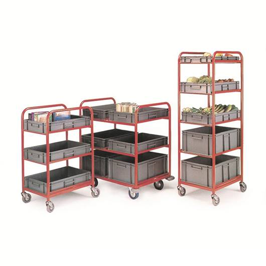 Picture of 3 and 5 Shelf Container Trolleys