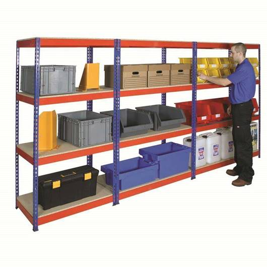 Picture of Heavy Duty Rivet Shelving with MFC Shelves