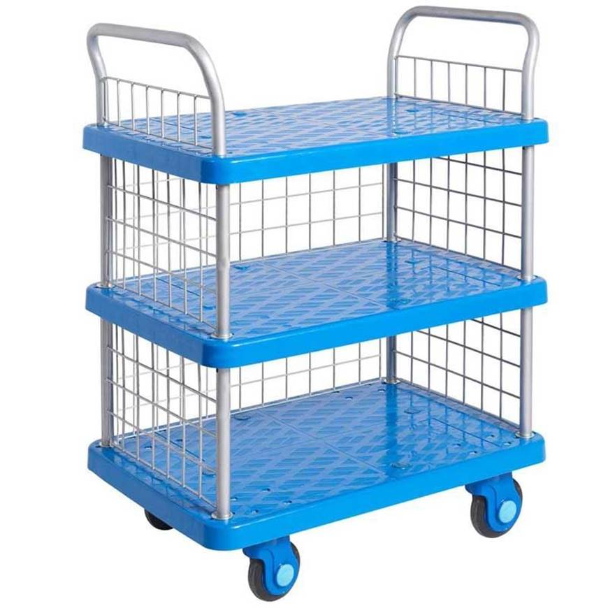 Proplaz Super Silent Three Tier Trolley with Mesh Side & Ends ...