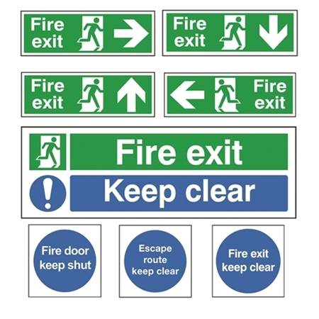 Picture for category Fire Exit & Emergency Signs