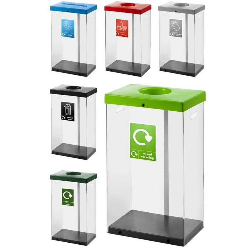 Picture of Clear Recycling Bins - Set of 5