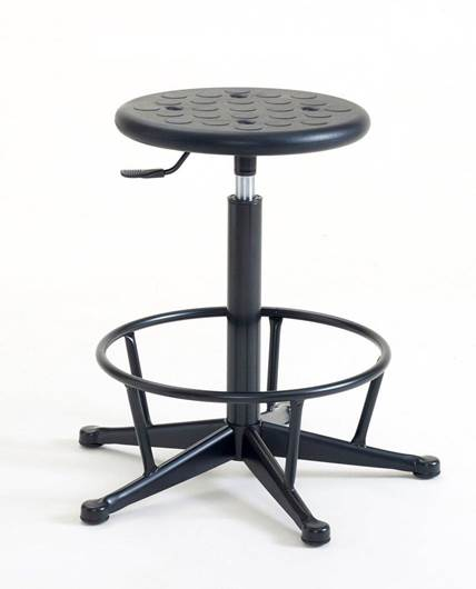 Picture of Cushioned Polyurethane High Stool (fixed footring)