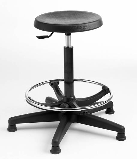 Picture of Cushioned Polyurethane High Stool (adjustable footring)