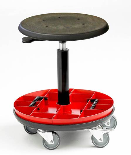 Picture of Cushioned Polyurethane Stool with Removable Tool Trays