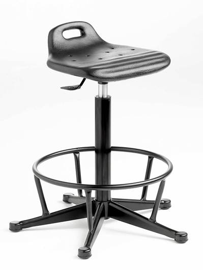 Picture of Cushioned Polyurethane Sit/Stand with Fixed Footring