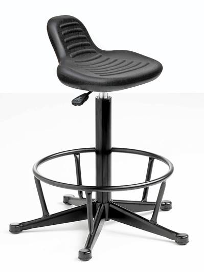 Picture of Cushioned Polyurethane Sit/Stand with Mini Back and Fixed Footring